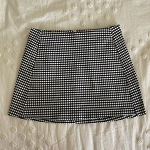 Urban Outfitters Black and White Plaid Skirt